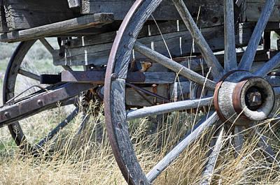 Wagon Wheel Hub Wall Art - Photograph - Wagon Wheels Nevada City by Bruce Gourley