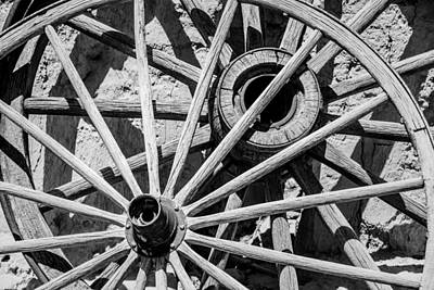 Photograph - Wagon Wheels by  Onyonet  Photo Studios