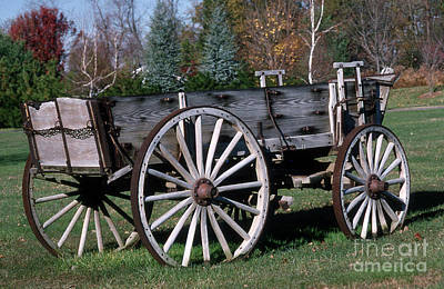 Antique Wagons Photograph - Wagon Wheels by Skip Willits