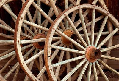 Wagon Wheel Hub Wall Art - Photograph - Wagon Wheels by Theodore Clutter