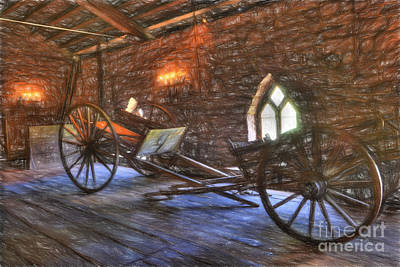 Photograph - Wagons From Old by Paul W Faust -  Impressions of Light