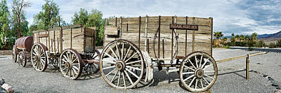 Wagon Photograph - Wagons Loaded With Borax, Death Valley by Panoramic Images