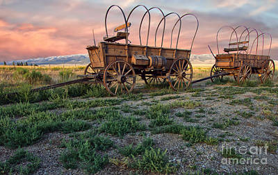 Photograph - Wagons West by Charlene  Aycock