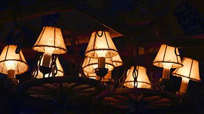 Wagon Wheels Photograph - Wagonwheel Lamp by Linda Phelps
