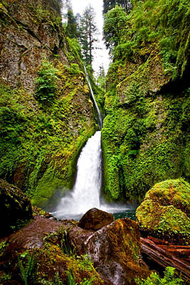 Photograph - Wahclella Falls In Oregon by Athena Mckinzie