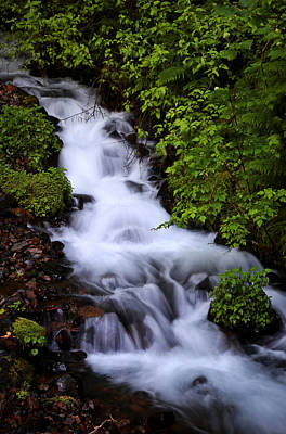 Photograph - Wahkeena Falls In Oregon by Athena Mckinzie