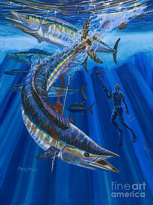 Wahoo Spear Art Print by Carey Chen