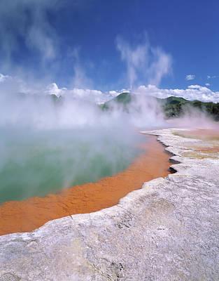Rotorua Photograph - Wai-o-tapu Thermal Area, Steam Rising by Greg Probst