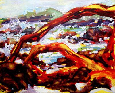 Plein Air Painting - Waialea Driftwood - South by Richard Rochkovsky