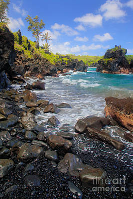 Photograph - Waianapanapa Rocks by Inge Johnsson