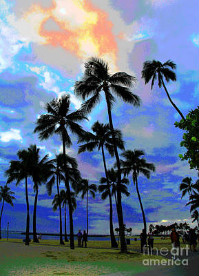 Photograph - Waikiki Beach Dusk by Larry Oskin