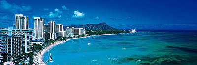Diamond Head Photograph - Waikiki Beach Honolulu Oahu Hi Usa by Panoramic Images