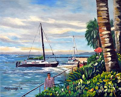 Painting - Waikiki Beach by Larry Geyrozaga