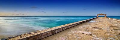 Photograph - Waikiki Beach Walk Panoramic by Tin Lung Chao