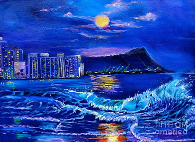 Waikiki Lights Art Print