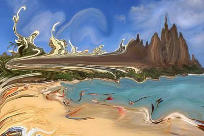 Painting - Waikiki Beach Remodeled - Modern Art by Art America Gallery Peter Potter