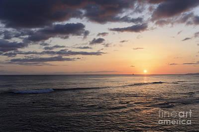 Photograph - Waikiki Sunset by Brandon Tabiolo