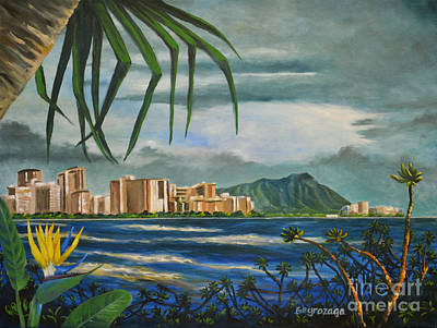 Painting - Waikiki View by Larry Geyrozaga