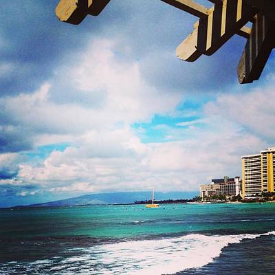 Photograph - Waikiki Walls View by Erika Swartzkopf
