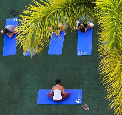 Photograph - Waikiki Yoga Lesson by Michele Myers