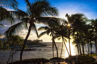 Photograph - Waikoloa Sunset by Lars Lentz