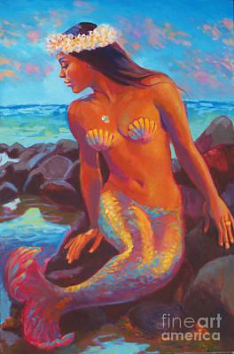 Mermaids Wall Art - Painting - Wailana Mermaid by Isa Maria