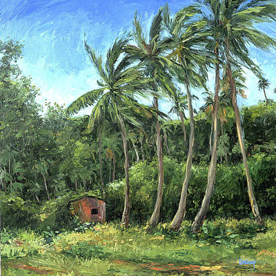 Haleiwa Painting - Wailea Hut by Stacy Vosberg