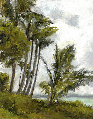 Haleiwa Painting - Wailea Palms by Stacy Vosberg