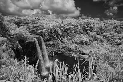 Photograph - Wailua Falls Infrared by Michael Yeager