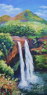 Maui Painting - Wailua Falls by John Clark