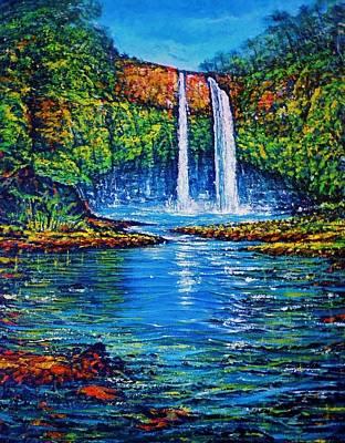 Wailua Falls Kauai Art Print by Joseph   Ruff