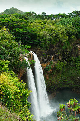Photograph - Wailua Falls Kauai by Photography  By Sai