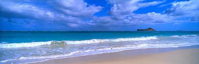 Beach Photograph - Waimanalo Beach Park Manana Island Oahu by Panoramic Images