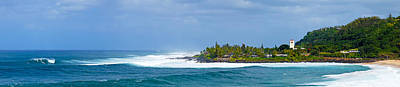 Waimea Bay Panorama Art Print by Kevin Smith