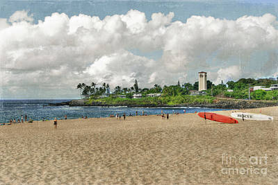 Waimea Beach Park In Hawaii Art Print