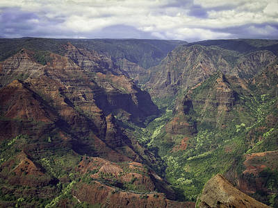 Photograph - Waimea Canyon by Dave Hall