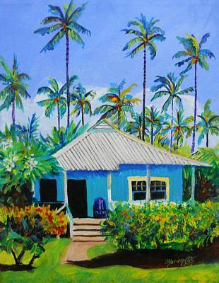 Painting - Waimea Cottage by Marionette Taboniar