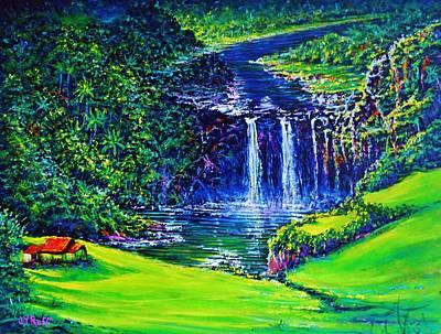 Waimea Falls Lv Art Print by Joseph   Ruff