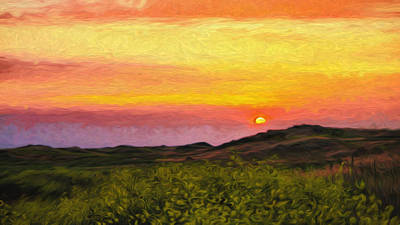 Photograph - Waimea Sunset In Layers by Dan Sabin