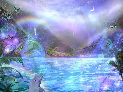 Waimia Dolphin Art Print