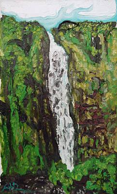 Waimoku Falls Art Print by Joseph Demaree