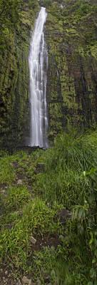 Photograph - Waimoku Falls Panorama by Brad Scott