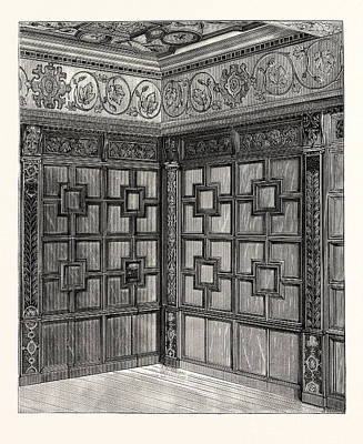 Historic Home Drawing - Wainscot And Pargetry, Carbrooke Hall, A Historic House by English School