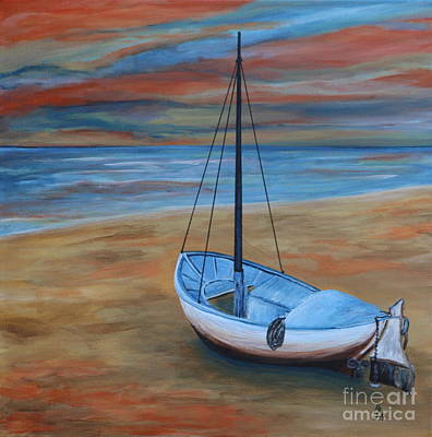Wainting To Go For A Sunset Sail Art Print by Christiane Schulze Art And Photography