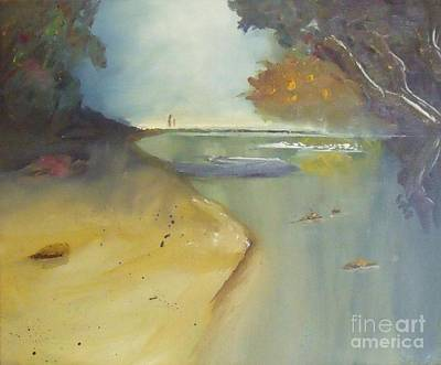 Painting - Waipu Cove In New Zealand by Debra Piro