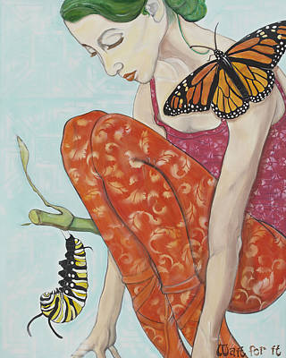 Metamorphosis Painting - Wait For It by Darlene Graeser