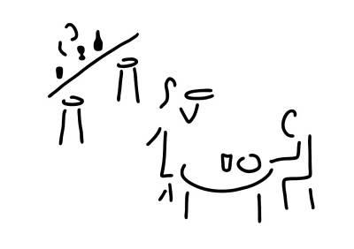 Snack Drawing - Waiter Restaurateur Barkeeper by Lineamentum