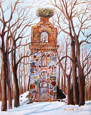 Painting - Waiting At Church Ruins  by Misuk Jenkins