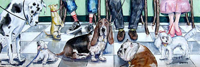 Painting - Waiting At The Vet's Office by Chris Dreher