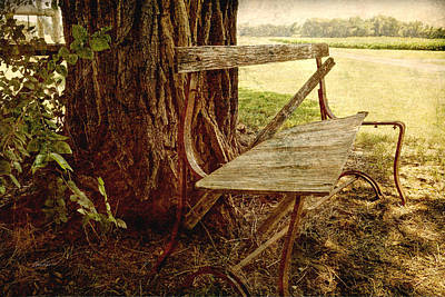 Photograph - Waiting Bench  by Ann Powell